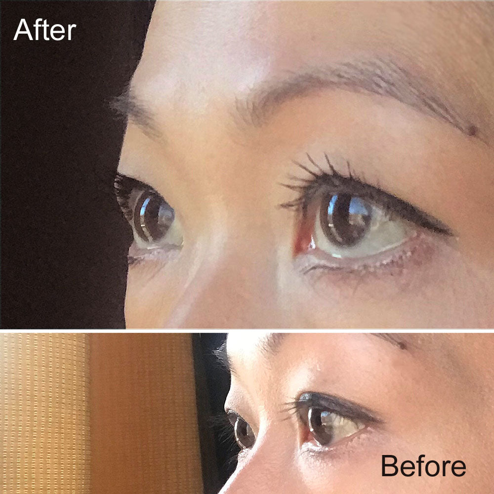 Before and After - Application of Imju Dejavu Lash Knockout Mascara Black