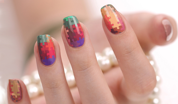 Candied Nails Puzzle Piece Nail Wraps.