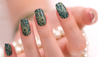 Candied Nails Royal Paisley Nail Wraps