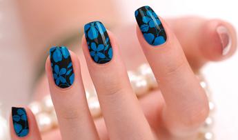 Candied Nails Blue Floral Nail Wraps