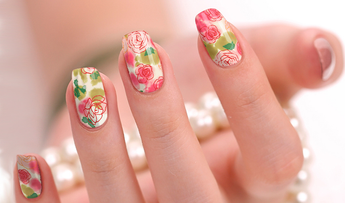 Candied Nails Subtle Rose Nail Wraps