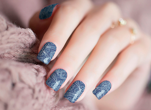 Candied Nails Blue Wolf Nail Wraps
