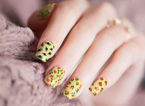 Candied Nails Wallpaper Nail Wraps