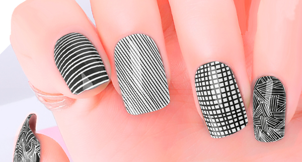 Candied Nails Lines Drawn Nail Wraps.