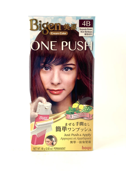 Hoyu Bigen One Push Cream Hair Color Shade 4B,4C,8