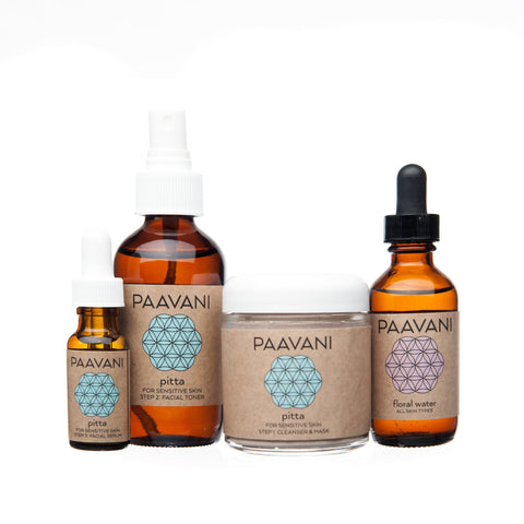 PAAVANI Ayurveda The Pitta Skincare Ritual (Sensitive Skin)