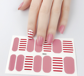 Candied Nails Love Stripe Gel Nail Wraps.