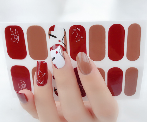 Candied Nails Painted Art Gel Nail Wraps.