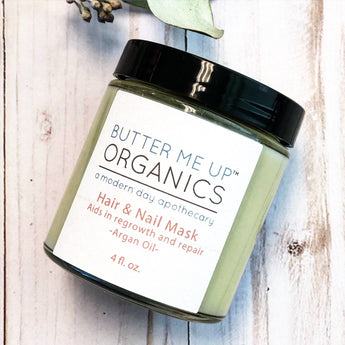 Butter Me Up Organics Hair & Nail Mask for long hair growth & healthy