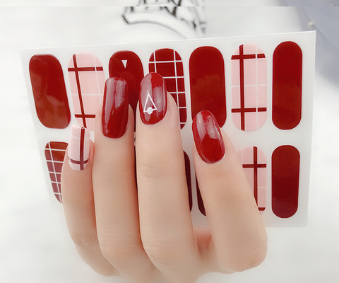 Candied Nails Triangle Love Gel Nail Wraps