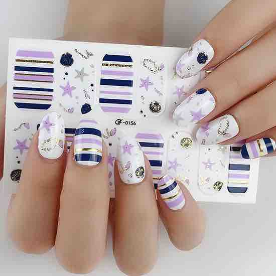 Candied Nails Sea Life Gel Nail Wraps.