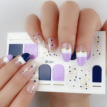 Candied Nails Lavendar Love Gel Nail Wraps.