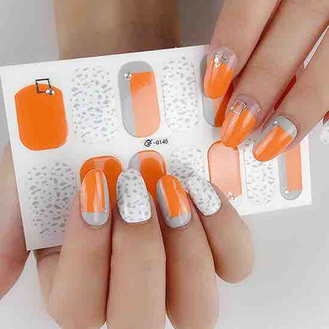 Candied Nails Orange Flair Gel Nail Wraps