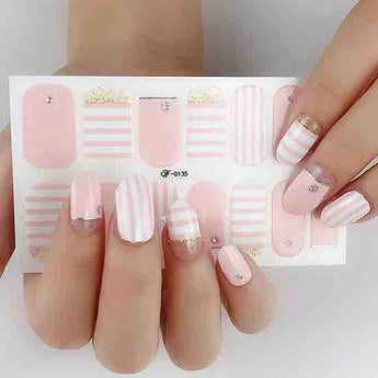 Candied Nails Candy Stripes Gel Nail Wraps.