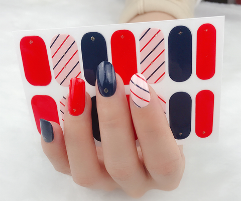 Candied Nails Fun Stripe Gel Nail Wraps