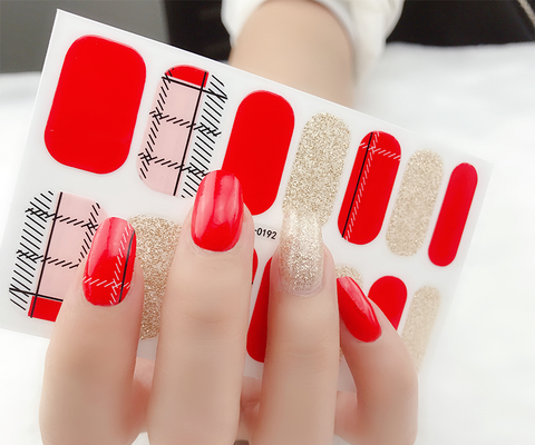 Candied Nails Red Patch Gel Nail Wraps.