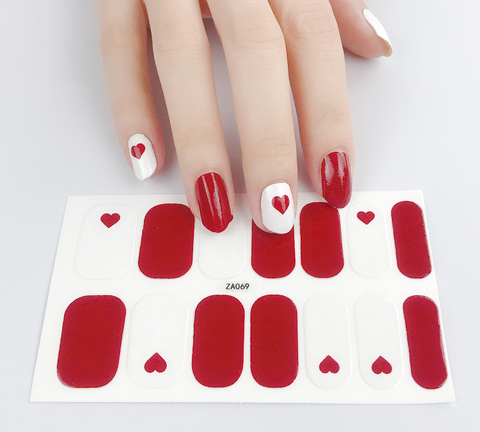 Candied Nails Valentine Hearts Gel Nail Wraps