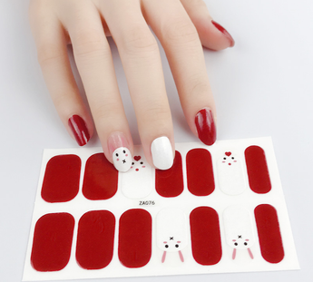 Candied Nails Bunny Love Gel Nail Wraps.
