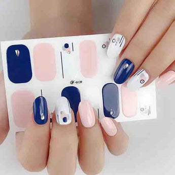 Candied Nails Blue Form Gel Nail Wraps
