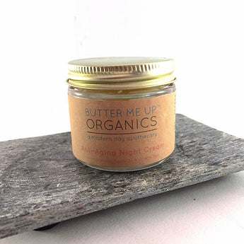 Butter Me Up Organics Anti Aging Night Cream Face Moisturizer Organic