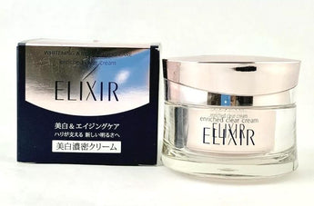 Shiseido Elixir Whitening & Revitalizing Care Enriched Clear Cream CB 45g - BeautyKat