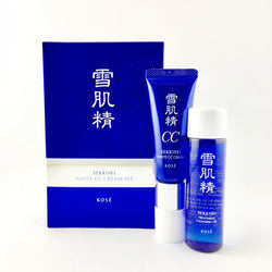 Kose Sekkisei White CC Cream 26ml 02+Treatment Cleansing Oil 35ml - BeautyKat