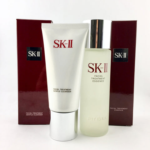 SK-II Facial Treatment Essence 160ml+Facial Treatment Gentle Cleanser 120g - BeautyKat