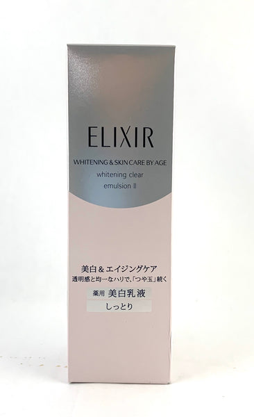Shiseido Elixir Whitening & Skin Care By Age Whitening Clear Emulsion II 130ml - BeautyKat