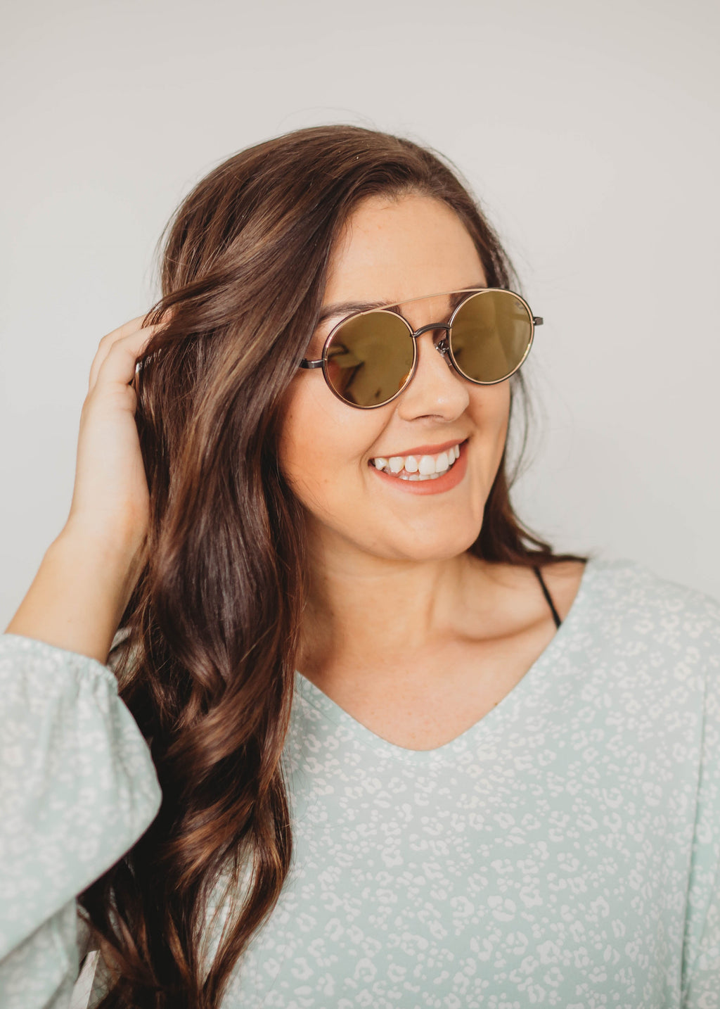Moonlight Beach Dreams Brown & Gold Sunglasses