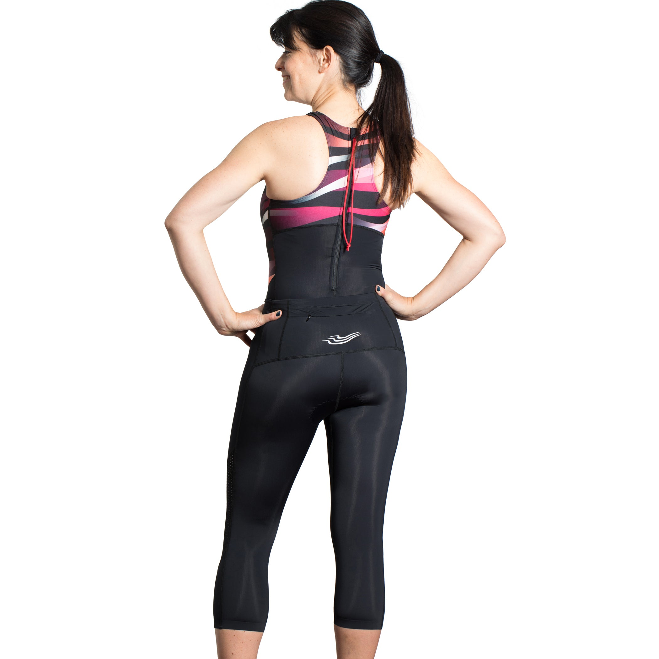 Wave & Pace Swimsuit and Triathlon Capri Set - S, M