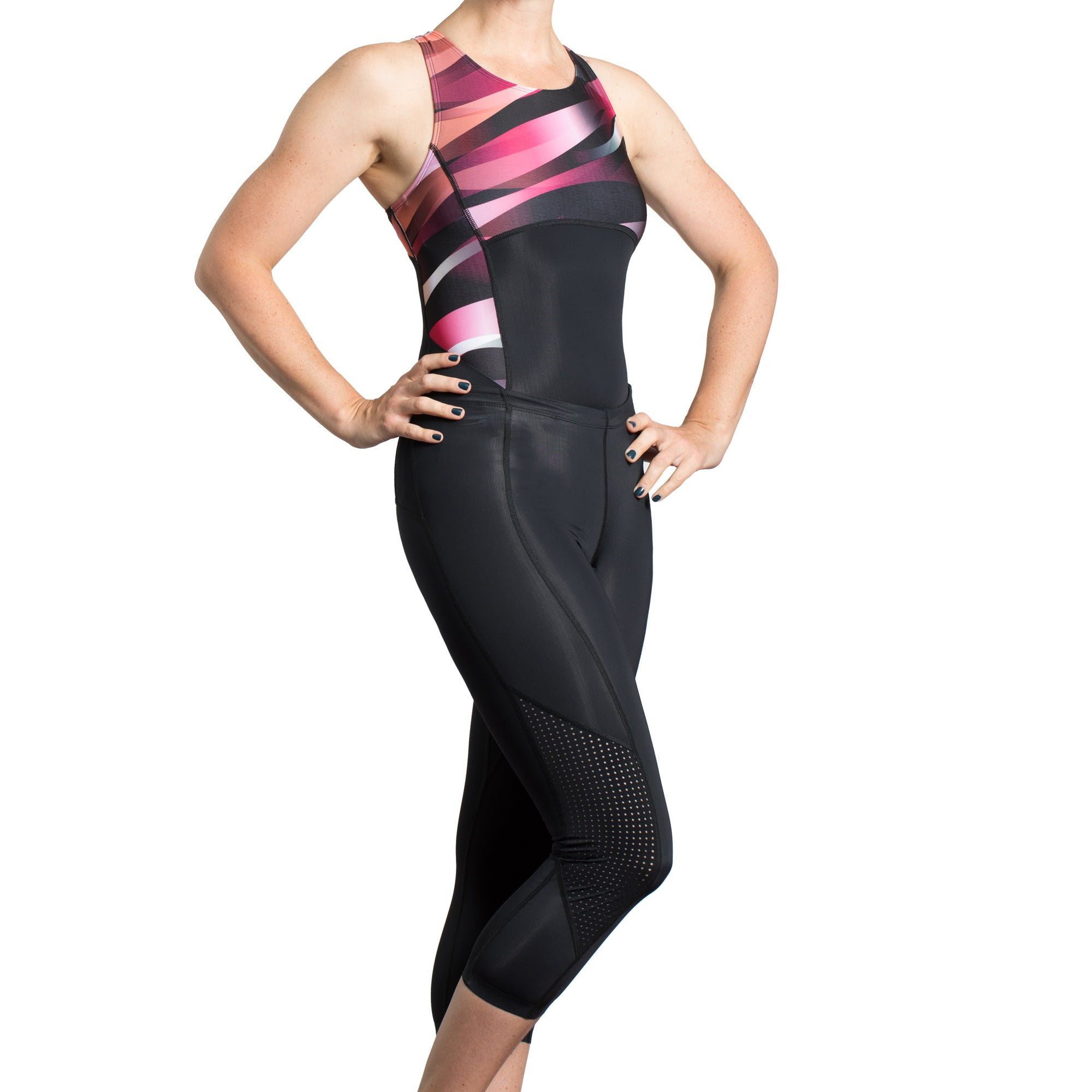 Trigirl two-piece triathlon suit and over the knee swimsuit