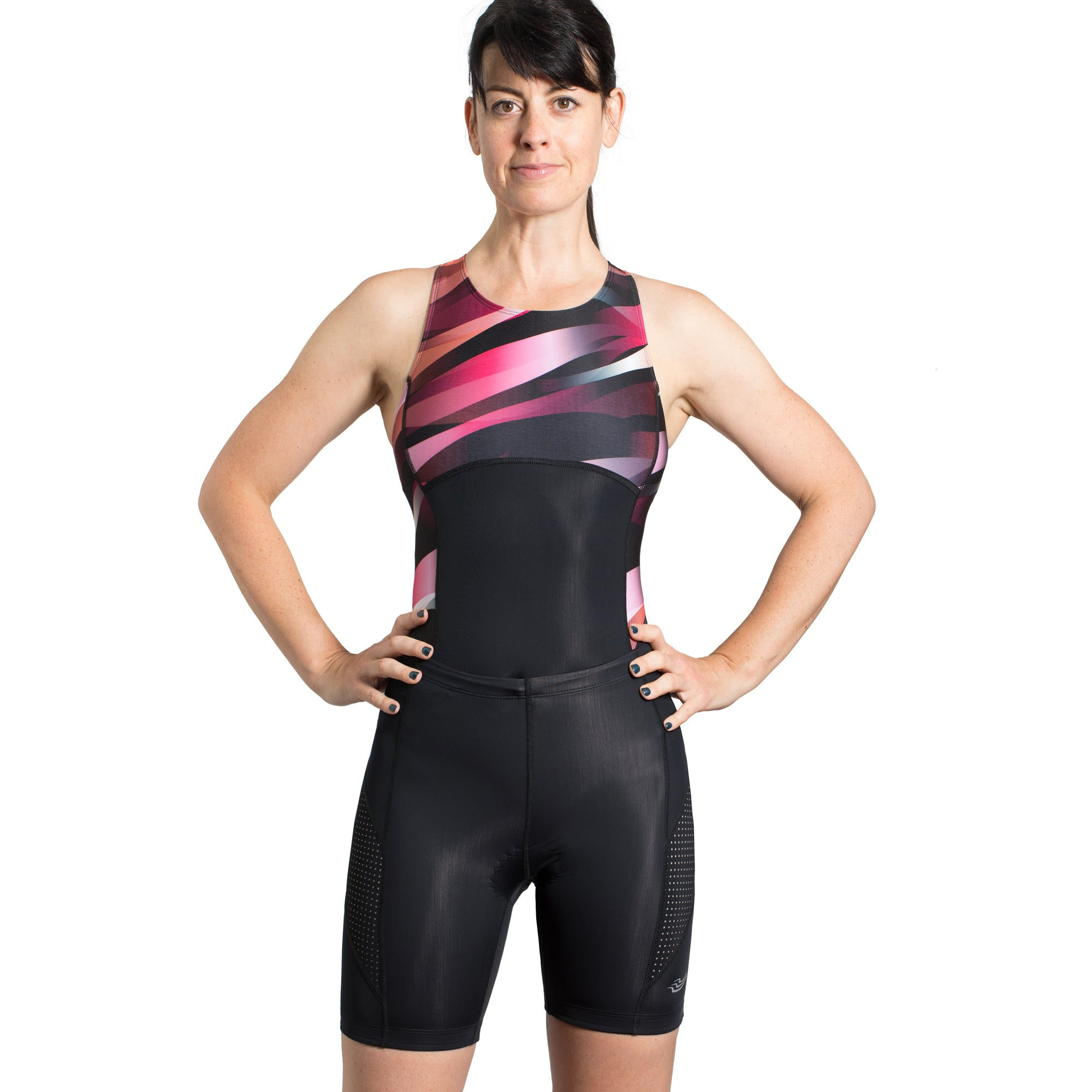 Wave & Champion Swimsuit and Tri Shorts Set - Red