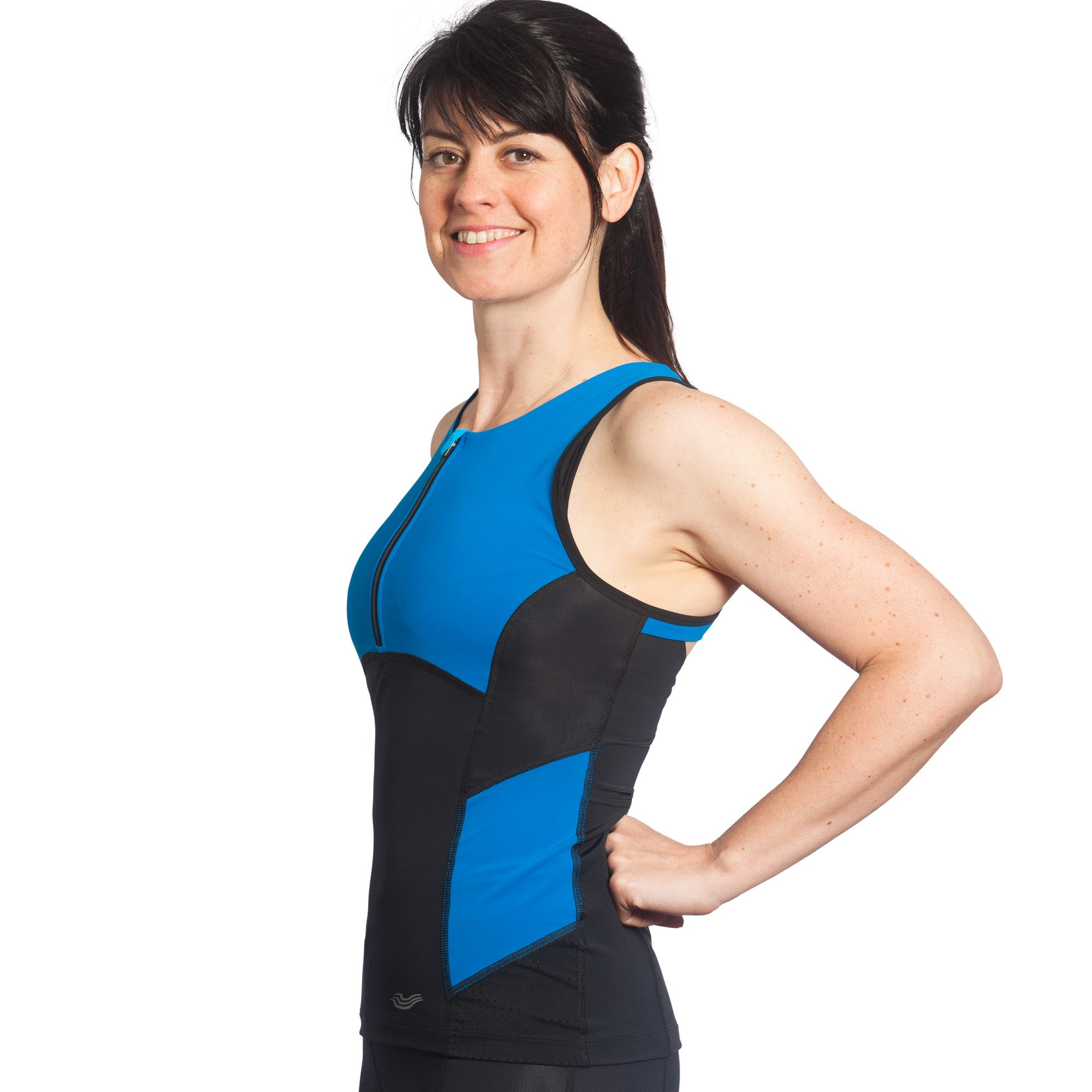 Brave Triathlon Top with Support Bra, Paradise Bay