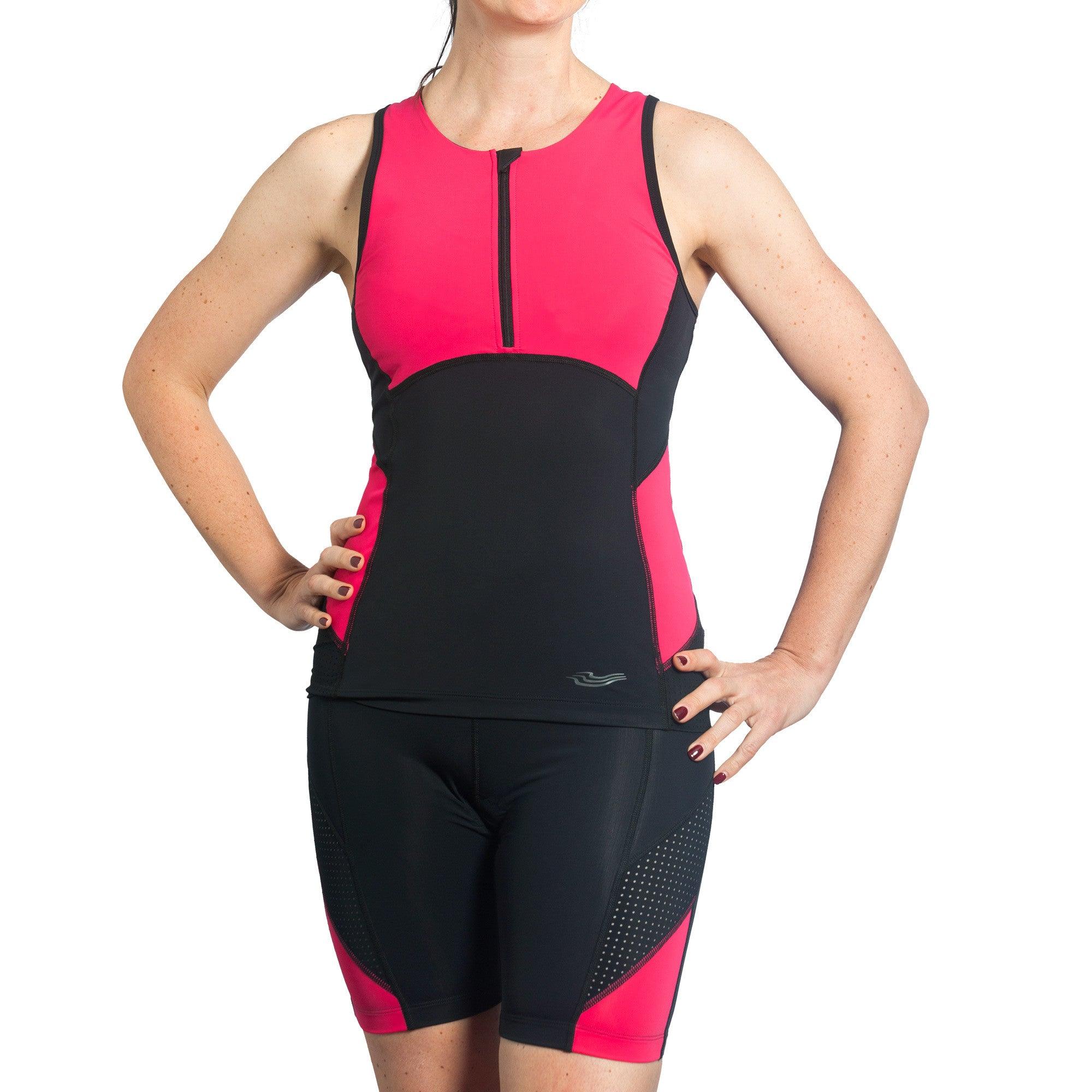 15% discount for this gorgeous Trigirl triathlon two-piece trisuit in pink