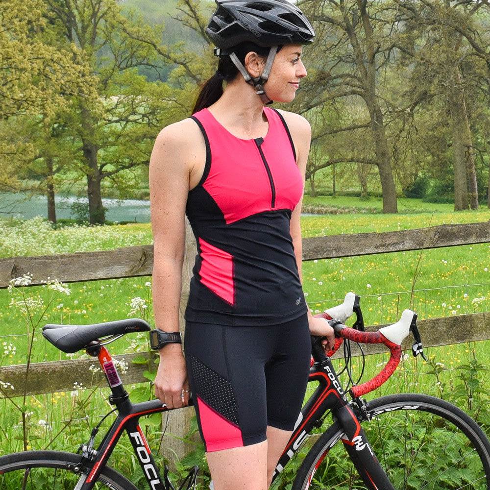 Brave Triathlon Top with Support Bra, Paloma Pink