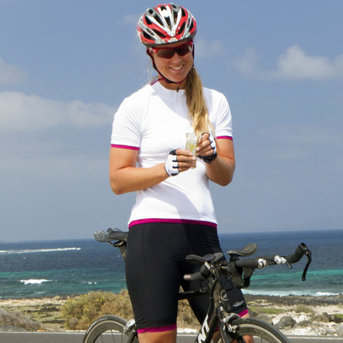 Cadence Ladies Cycling Shorts in Black with Cardinal Red Trim