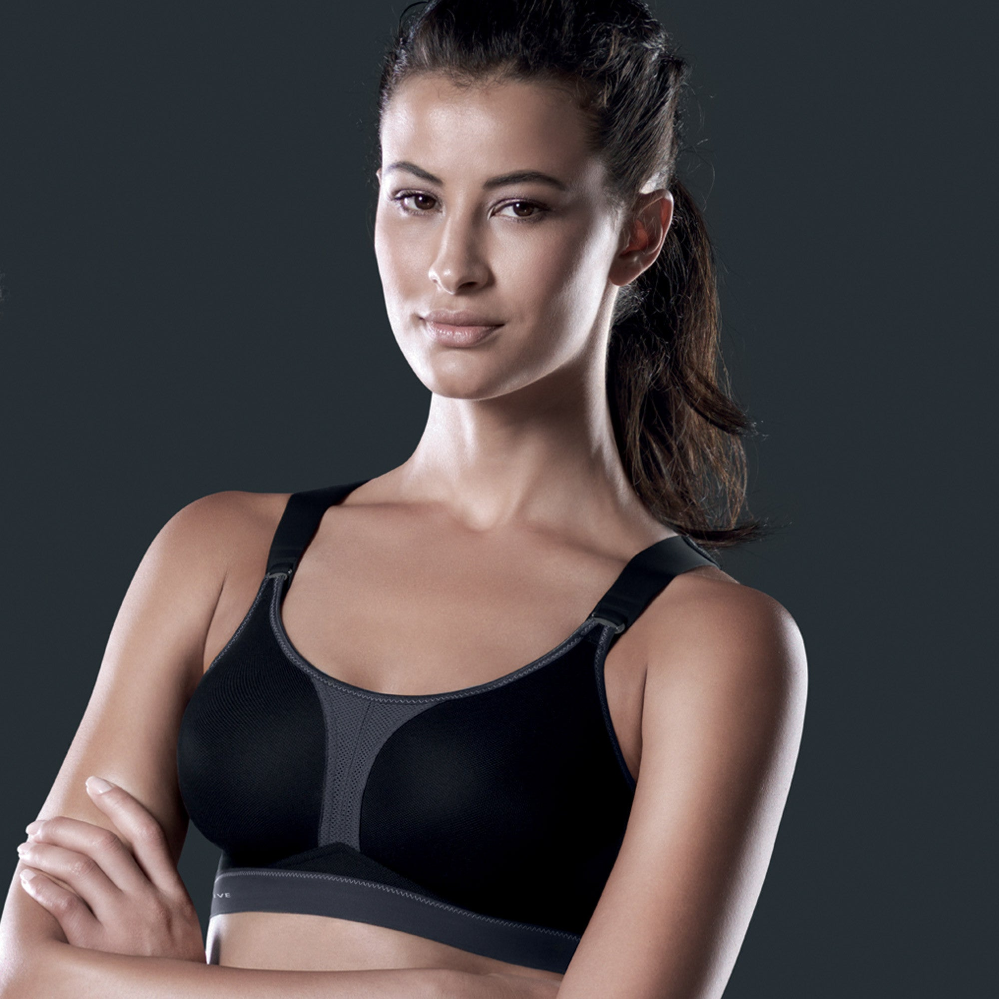 Dynamix X-Back Sports Bra in Black