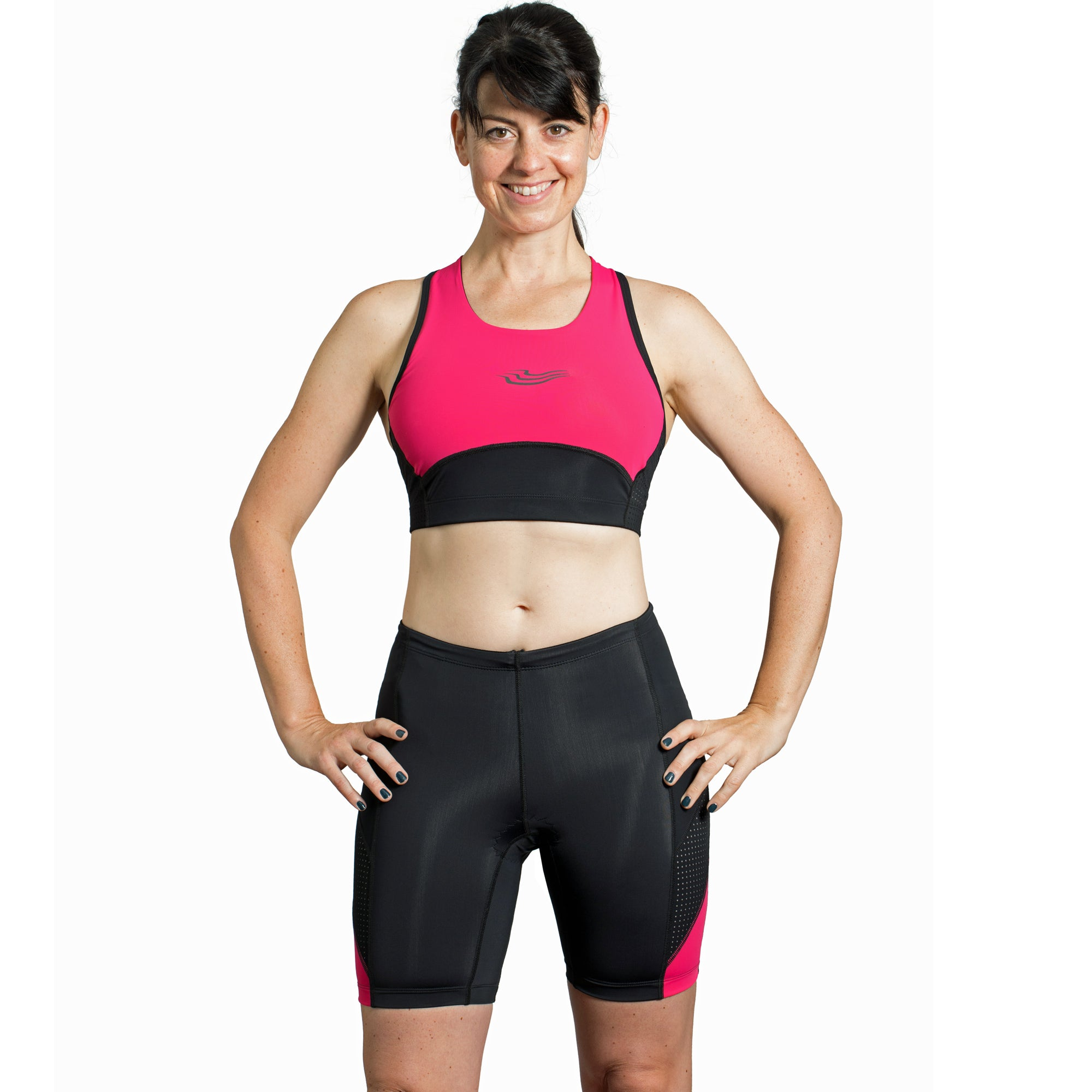 Beat Tri Crop Top with Support Lining, Paloma Pink