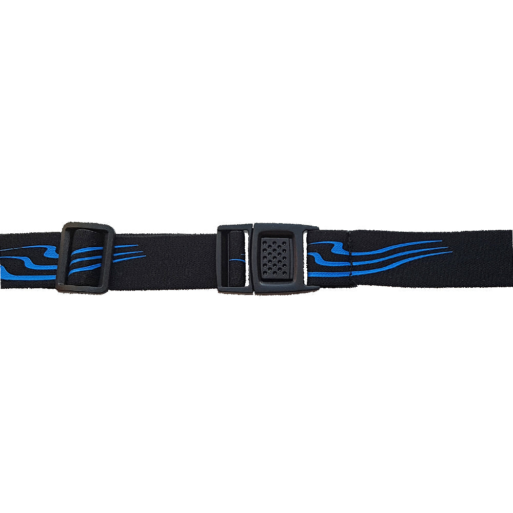 Triathlon Number Belt in Black/ Blue