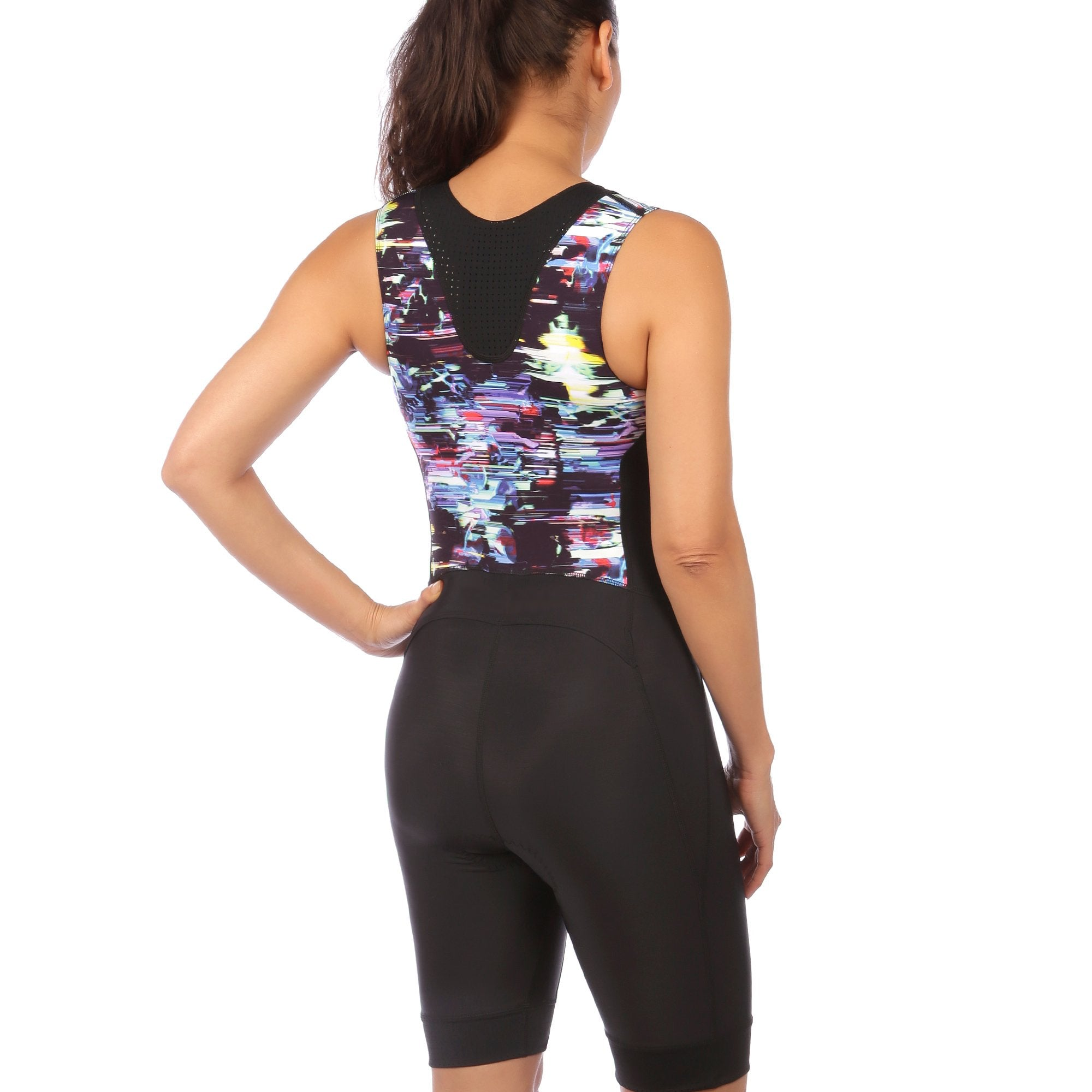 Ritzy Trisuit with/ without Support Bra in Glitched Floral