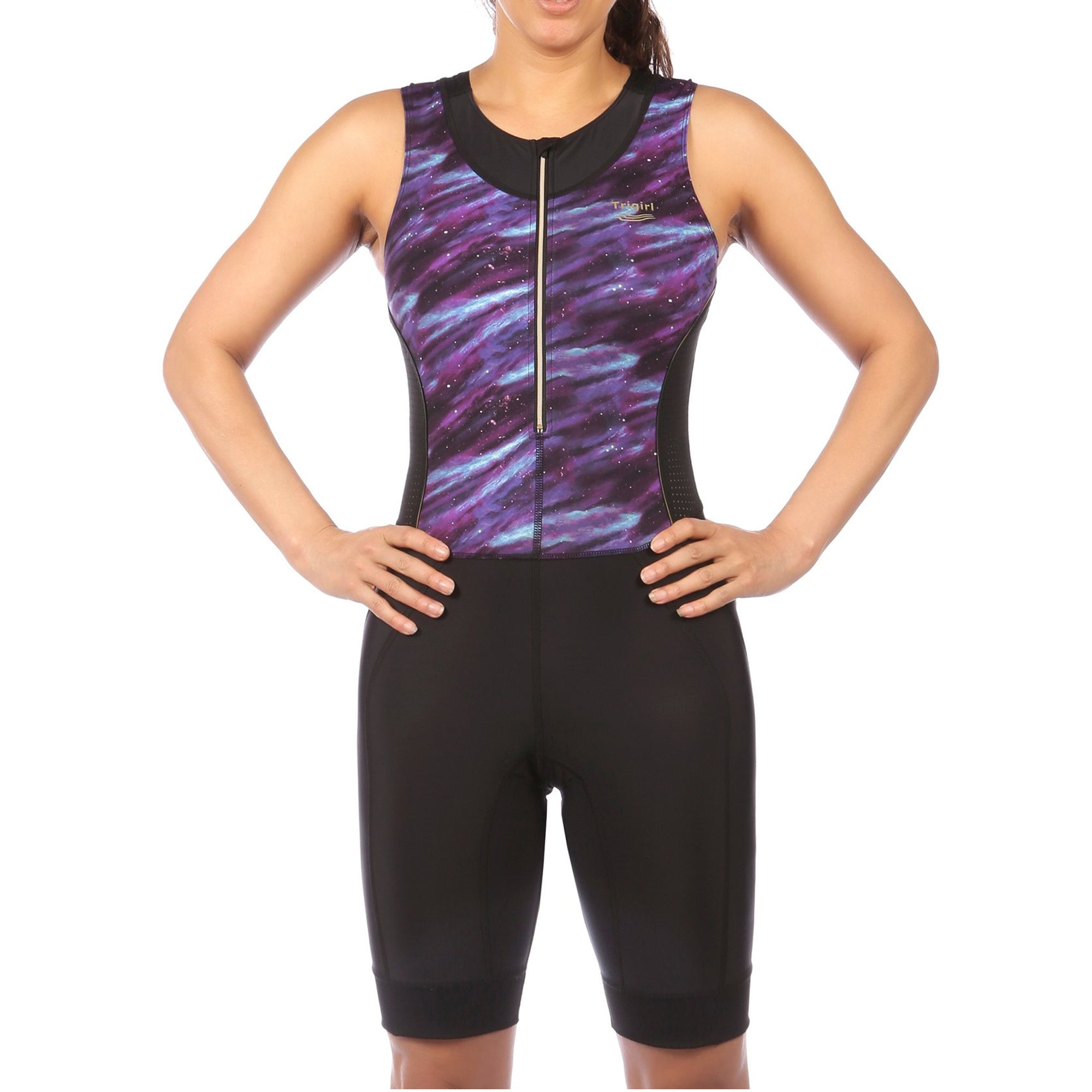 Ritzy Trisuit with Support Bra in Purple Galaxy