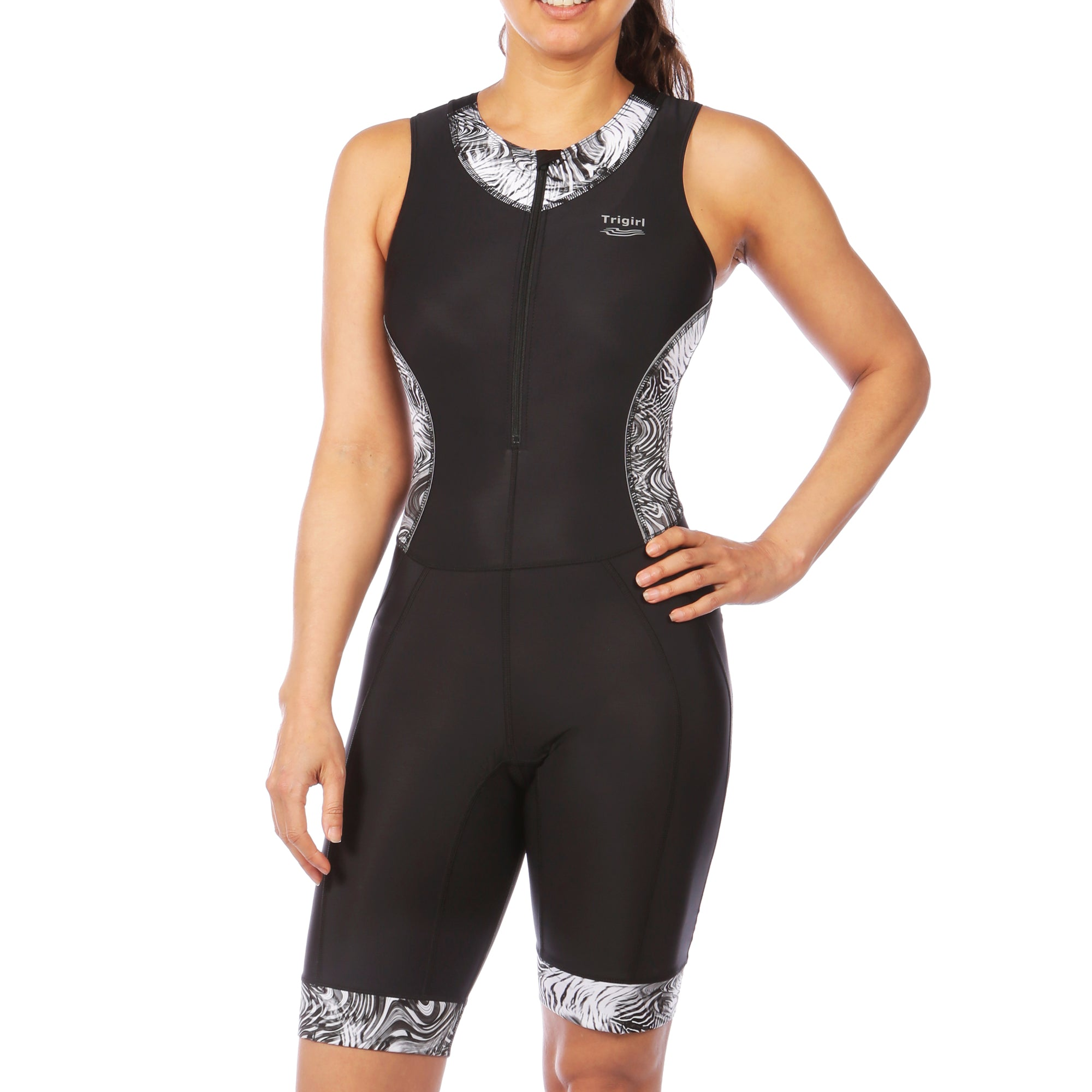 Ritzy Trisuit with Support Bra in Hidden Zebra