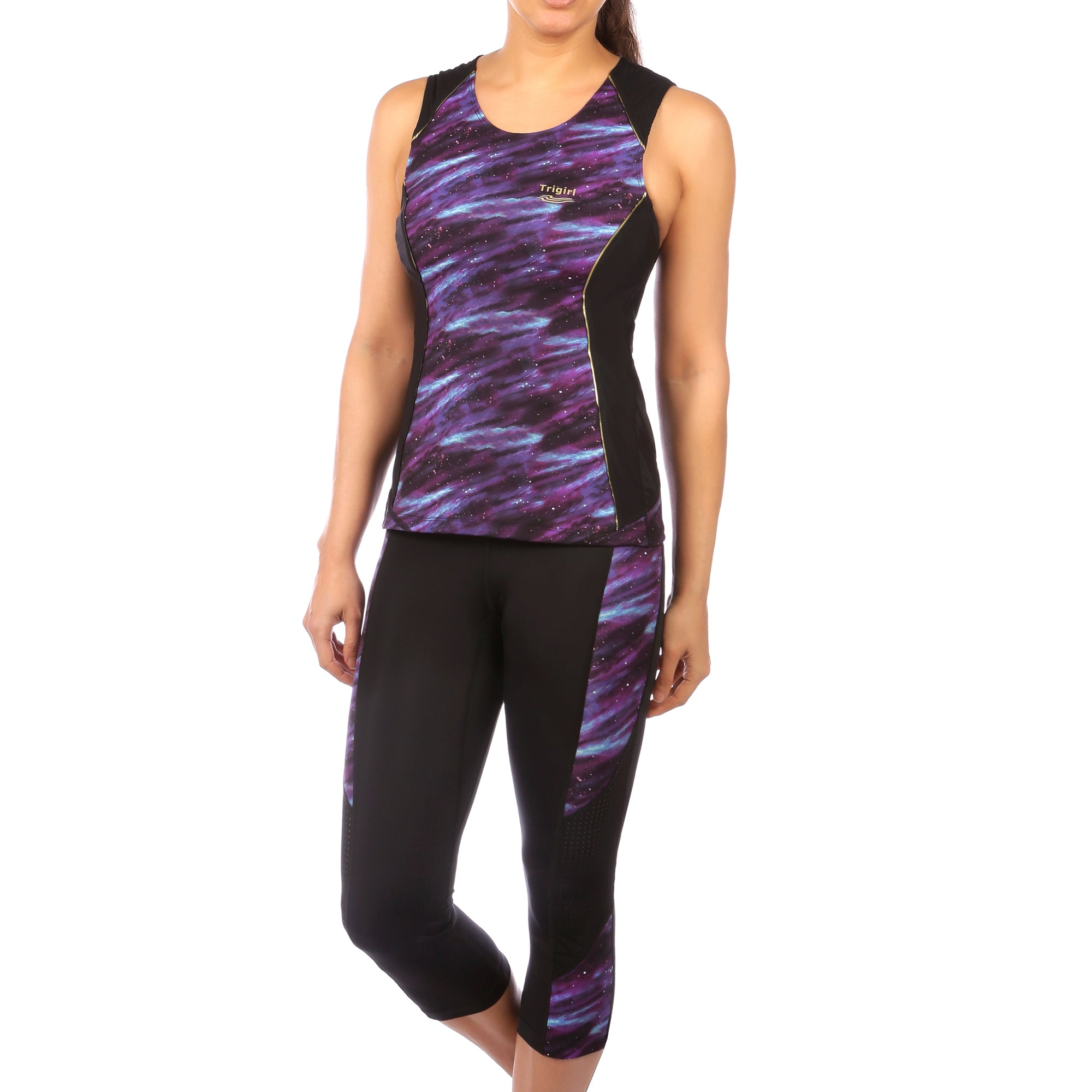 Gait Triathlon Capri in Purple Galaxy Print