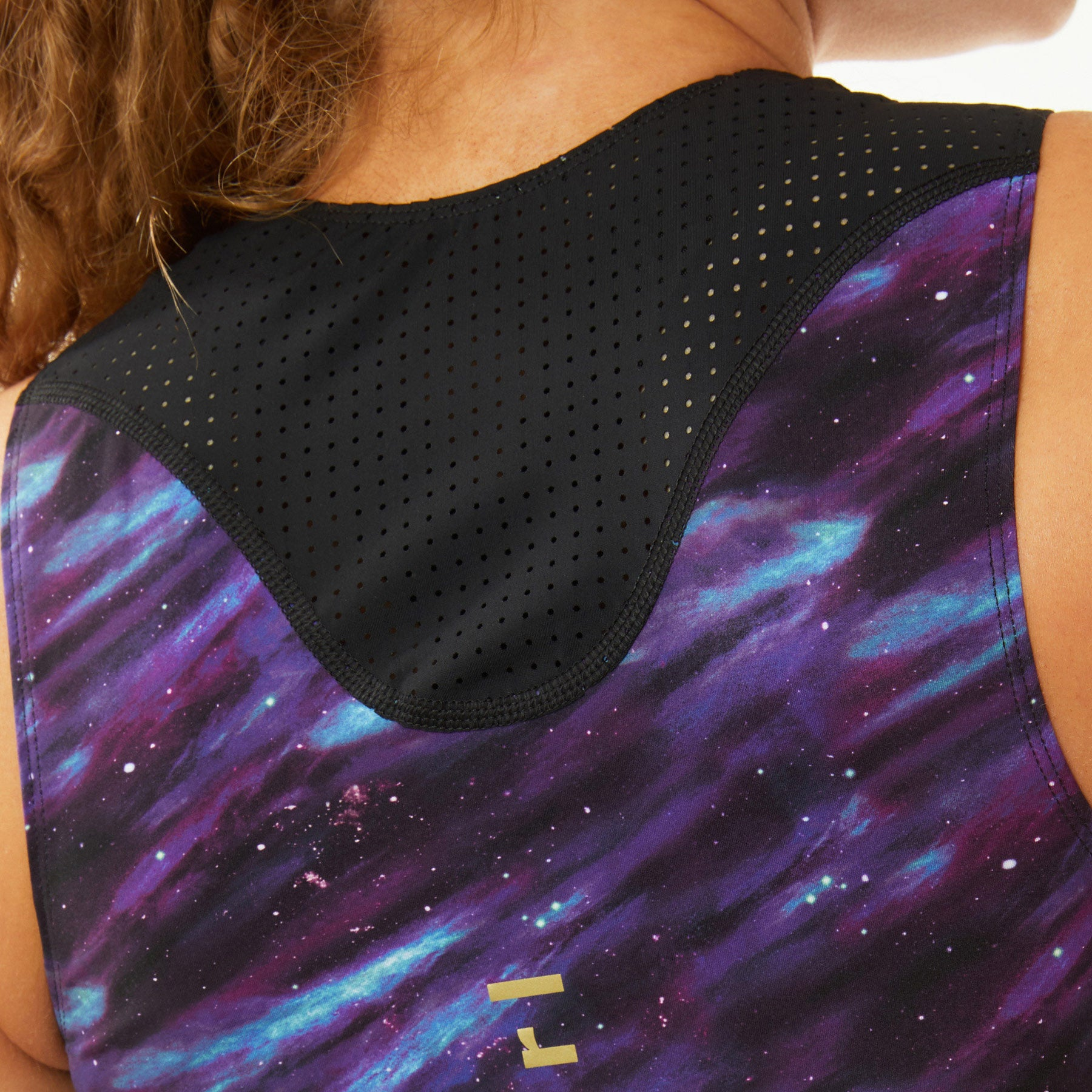 Sassy & Step Long Triathlon Top and Shorts Set in Purple Galaxy