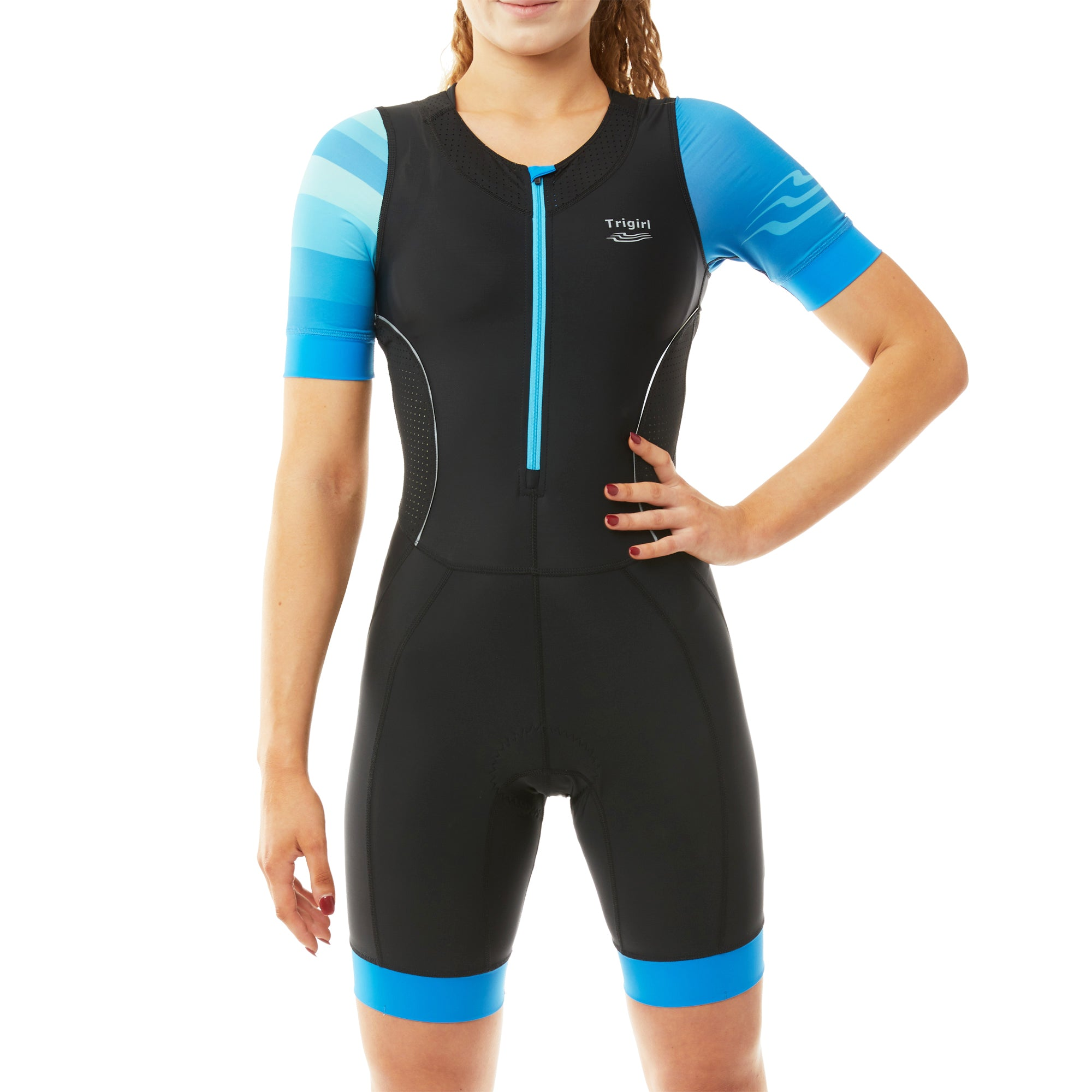 Star Trisuit with/ without Support in Mermaid Blue - L, XL
