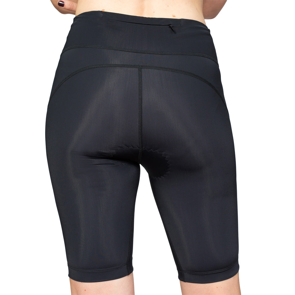 Step Long Leg Tri Shorts in Black