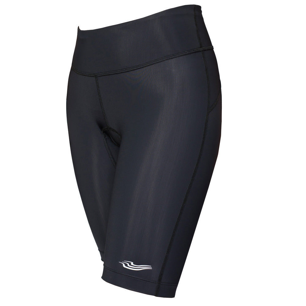 Trigirl Step women's triathlon shorts in black are an essential item for every female triathlete.