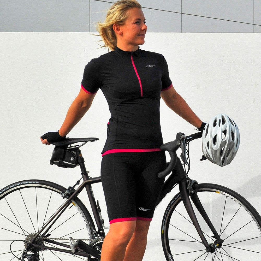 Velocity Ladies Cycling Jersey in Black - Size M
