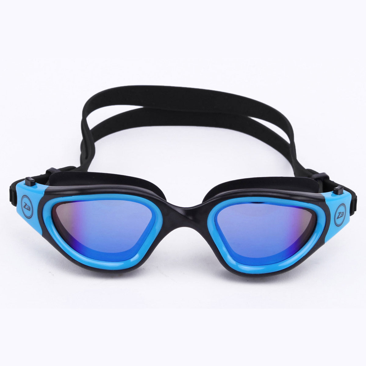 Triathlon goggles in blue polarised for triathletes and swimmers