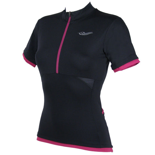 Velocity Ladies Cycling Jersey in Black